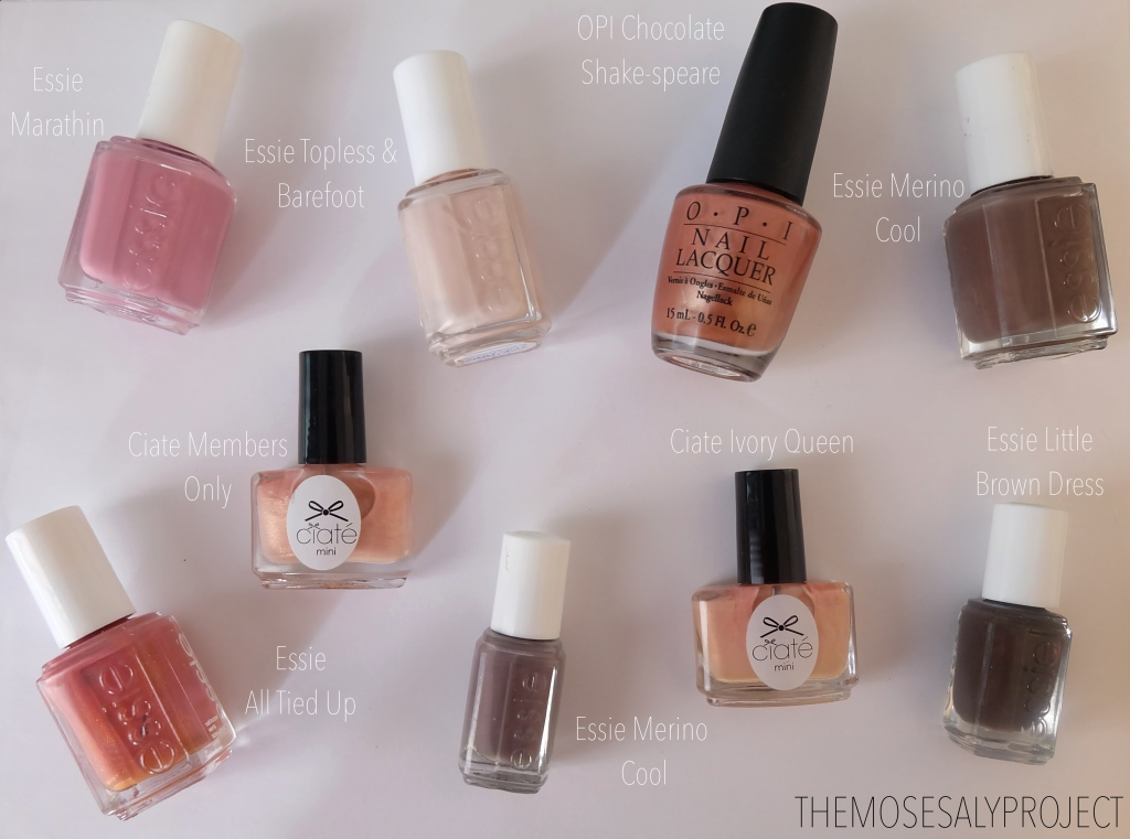 Neutral Nail Polish Swatches on NC45 Skin – Essie, Ciaté and OPI ...