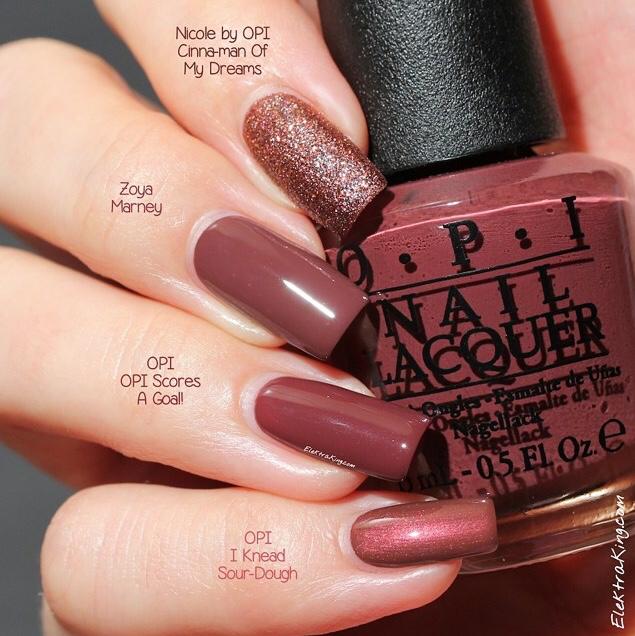 Marsala nail polish