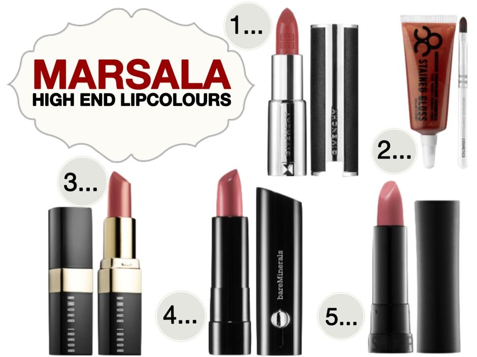 Marsala High End Lip Colours