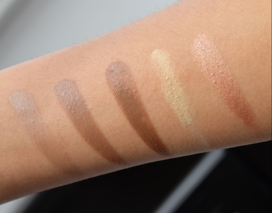 Laura mercier flawless contour palette arm swatch