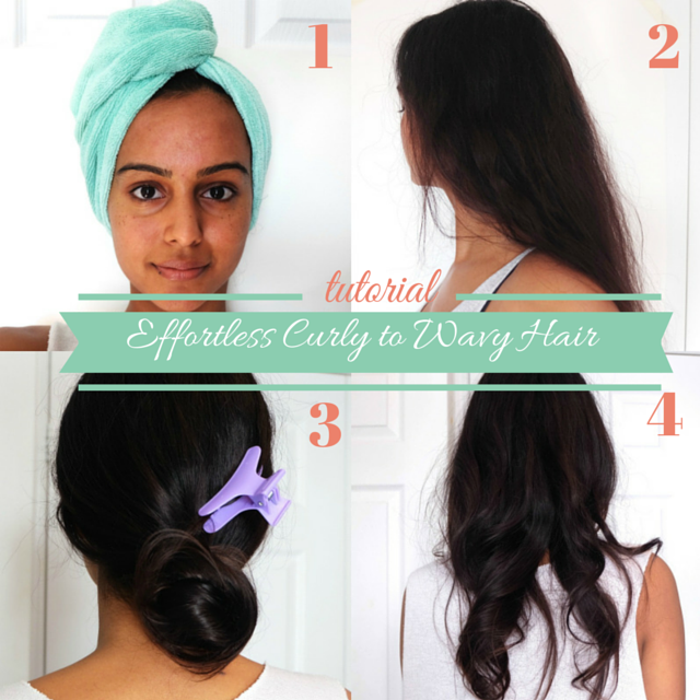 CURLY TO WAVY HAIR TUTORIAL