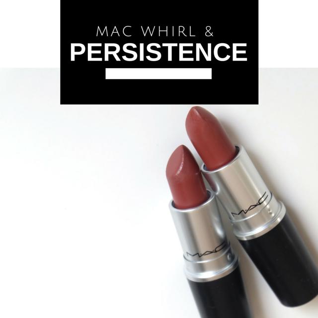 mac persistence and whirl lipstick dark skin
