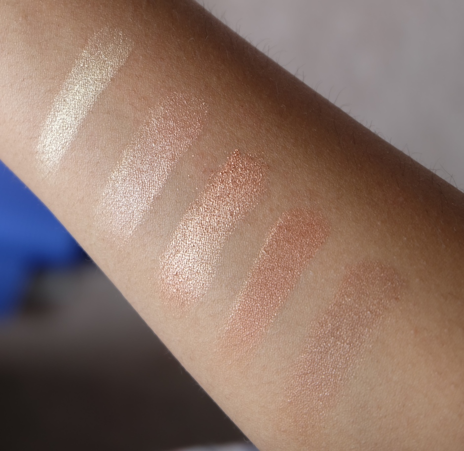 physician's formula sunset strip arm swatches