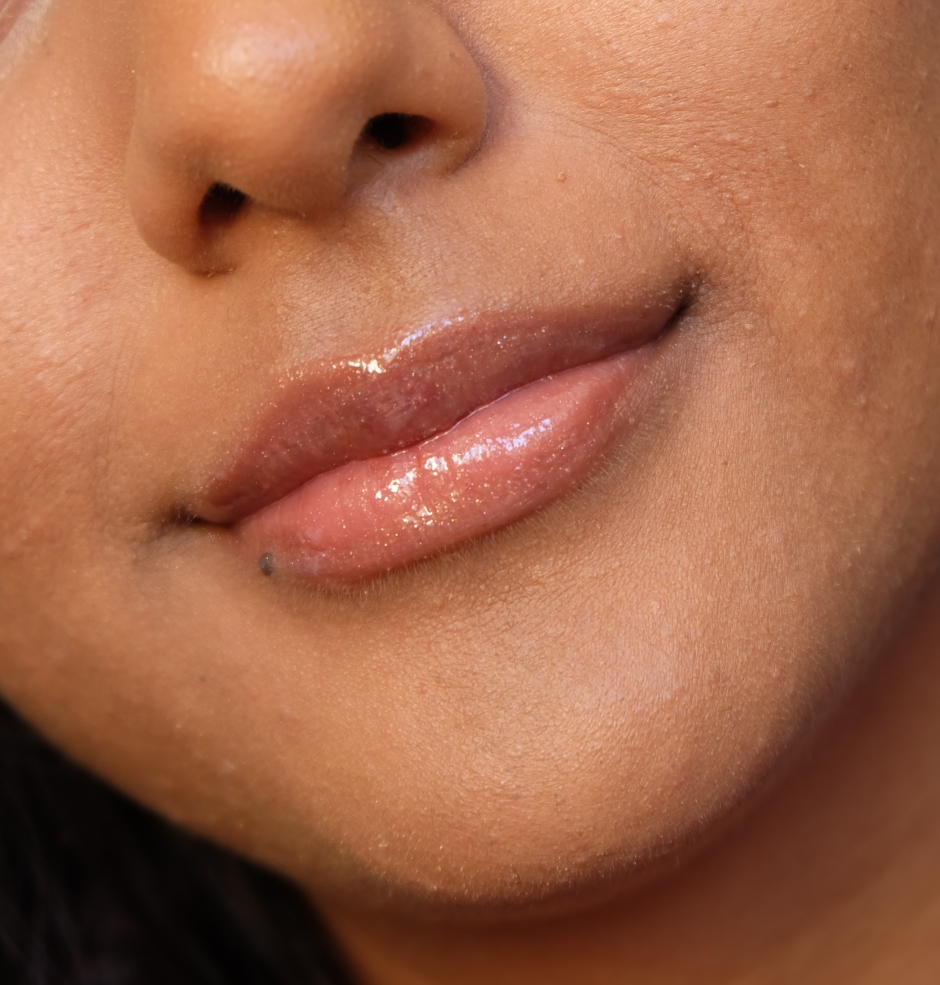 Gloss Bomb Universal Lip Luminizer on NC45 Indian Skin