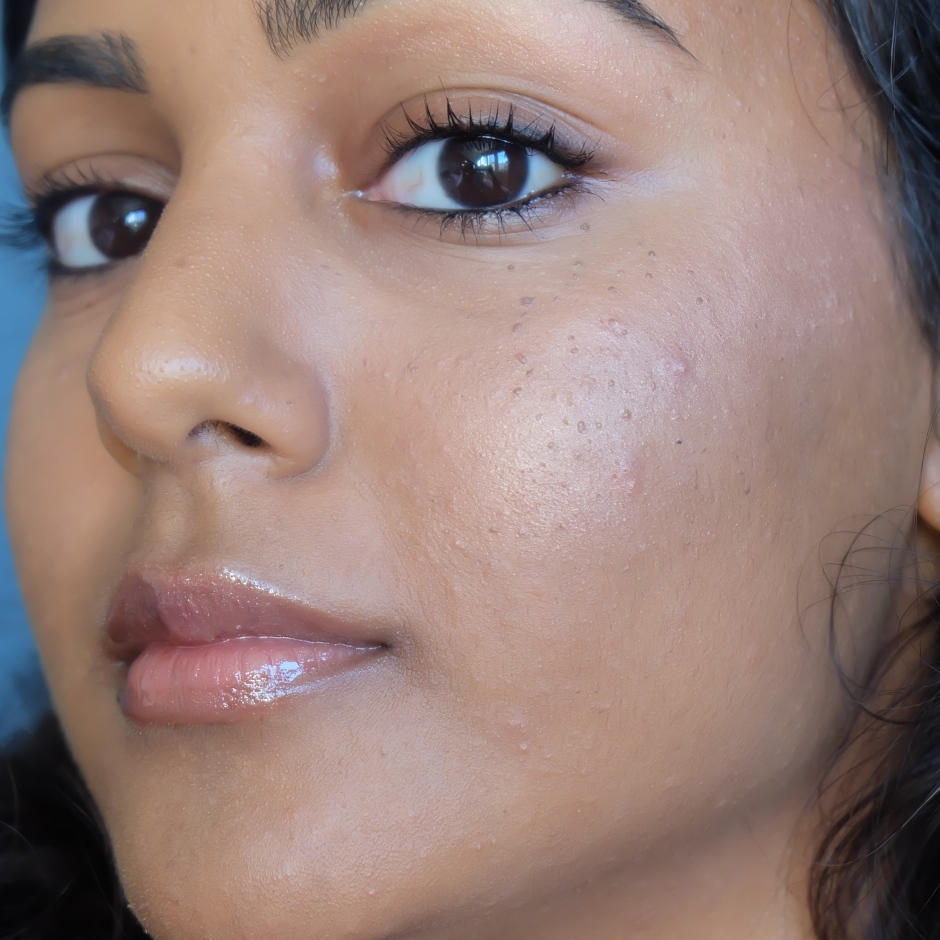 Yacht Lyfe Match Stix Shimmer Skinstick on NC45 dark Indian skin